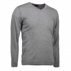 Трикотажний чоловічий пуловер з V-подібним вирізом