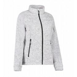 Жіноча куртка зі стьобаного в'язаного флісу 0827